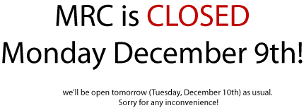 MRC Closed today