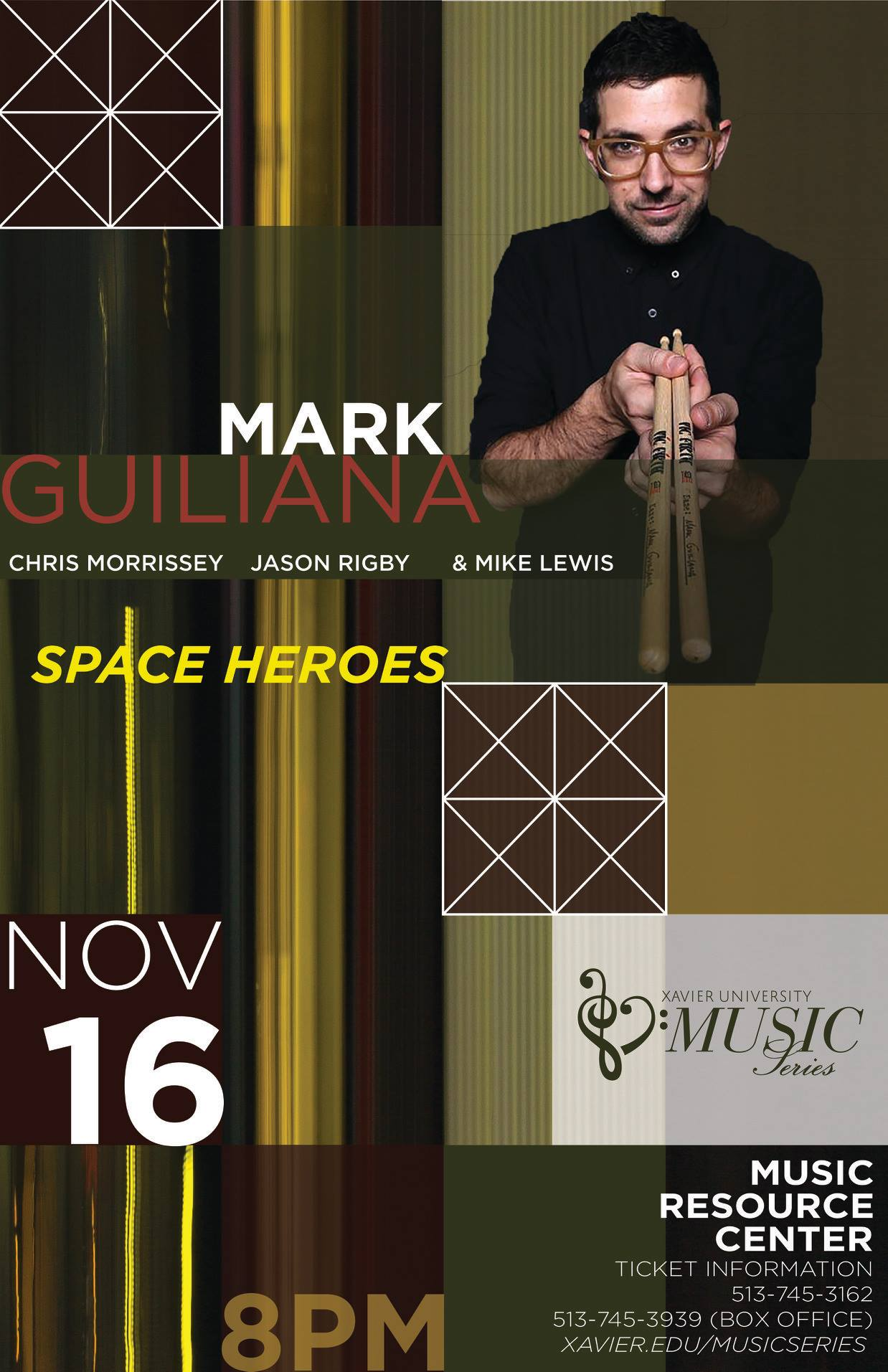 Mark Guiliana Space Heroes Live at MRC | Friday, Nov  16th :: The